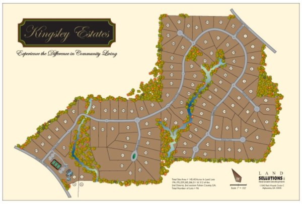Kingsley Estates Site Plan Milton GA